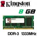 Memoria Portátil DDR-3 8GB PC-1333 Kingston