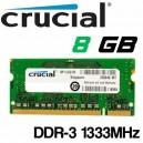 Memoria Portatil DDR-3 8GB PC-1333 Crucial