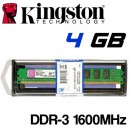 Memoria DDR-3 4096MB PC-1600 Kingston