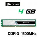 Memoria DDR-3 4GB PC-1600 Corsair PC3-12800 CL9