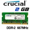 Memoria Portátil DDR-2 2GB PC-667 Crucial
