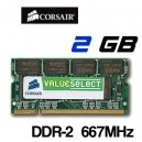 Memoria Portátil DDR-2 2GB PC-667 Corsair
