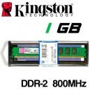 Memoria DDR-2 1024MB PC-800 Kingston