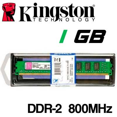 Memoria DDR-2 1GB PC-800 Kingston