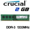Memoria DDR-3 2GB PC-1333 Crucial