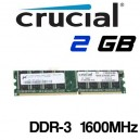 Memoria DDR-3 2GB PC-1600 Crucial PC3-12800