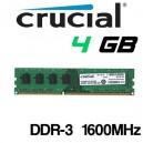 Memoria DDR-3 4GB PC-1600 Crucial