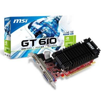SVGA GeForce GT610 MSI 2GB DDR3 Silent LowProf