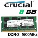 Memoria Portátil DDR-3 8GB PC-1600 Crucial
