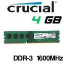 Memoria DDR-3 4GB PC-1600 Crucial Doble Cara