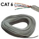 Cable de Red UTP (Bobina) 100m Rigido Cat. 6