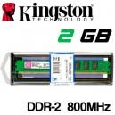 Memoria DDR-2 2048MB PC-800 Kingston