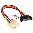 Cable Alimentacion Molex 4pin-H a SATA 15pin-M