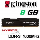 Memoria DDR-3 8GB PC-1600 Kingston HYPER-X FURY