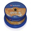 DVD-R Verbatim 16X 4,7GB Silver Tarrina 50U
