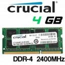 Memoria Portátil DDR-4 4GB PC-2400 Crucial 1,2V