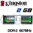 Memoria DDR-2 2048MB PC-667 Kingston