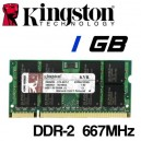 Memoria Portátil DDR-2 1024MB PC-667 Kingston