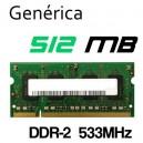 Memoria Portátil DDR-2 512MB Genérica