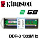 Memoria DDR-3 2048MB PC-1333 Kingston