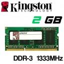 Memoria Portátil DDR-3 2048MB PC-1333 Kingston