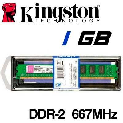 Memoria DDR-2 1GB PC-667 Kingston