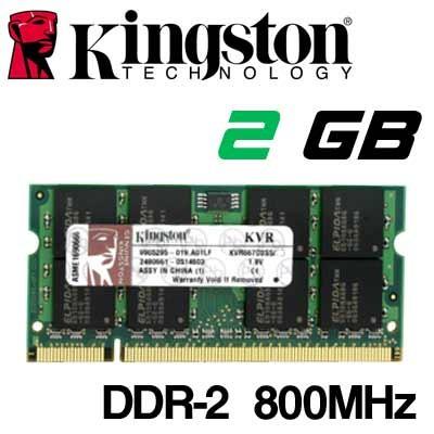 Memoria Portátil DDR-2 2GB PC-800 Kingston