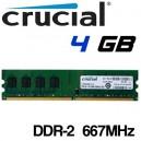 Memoria DDR-2 4096MB PC-667 Crucial