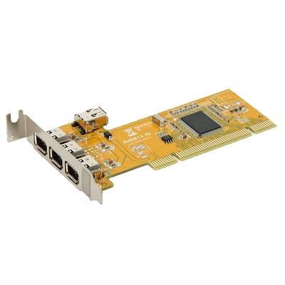 Tarjeta Amp. 3+1 P. FireWire PCI low prof.