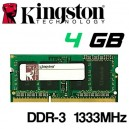 Memoria Portátil DDR-3 4096MB PC 1333 Kingston