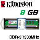 Memoria DDR-3 8192MB PC-1333 Kingston