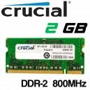 Memoria Portátil DDR-2 2048MB PC-800 Crucial