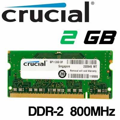 Memoria Portátil DDR-2 2GB PC-800 Crucial
