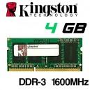 Memoria Portátil DDR-3 4096MB PC-1600 Kingston