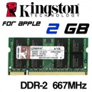 Memoria Portátil DDR-2 2GB PC-667 Kingston Apple